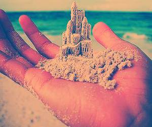 beach, photography, and sand image