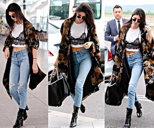 kendall jenner, fashion, and jeans image