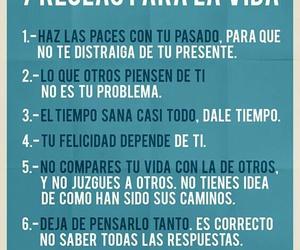 felicidad, vida, and frases español image