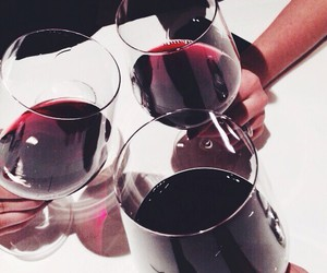 wine, drink, and red image