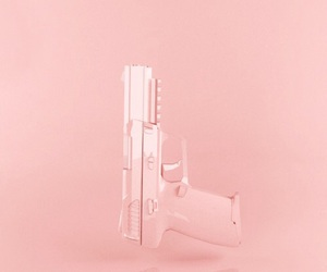pink, gun, and pastel image