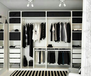 closet, clothes, and black image