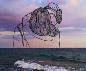 love, sea, and couple image