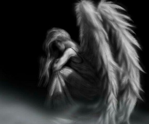 angel, Flying, and wings image