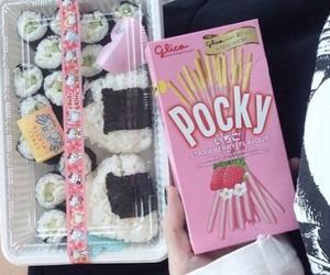pocky, sushi, and food image