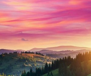 wallpaper, nature, and sunset image