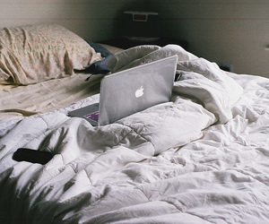 bed, apple, and hipster image
