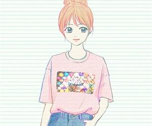 art, beautiful girl, and cute art image