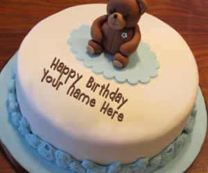 teddy bear and name birthday pictures image