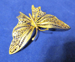 costume jewelry, butterfly brooch, and etsy image