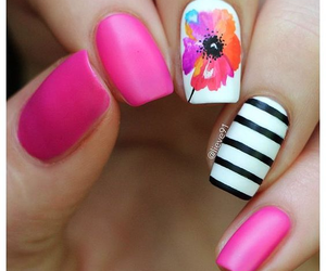 flower, girl, and nail image