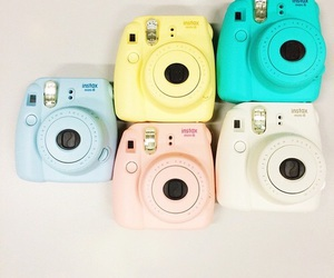 camera, colors, and instax image