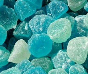 blue, candy, and wallpaper image