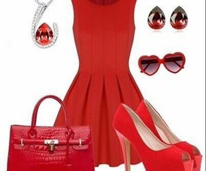 accessories, fashion, and red image