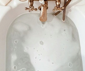 bath, water, and white image
