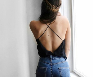 braid, girl, and outfit image