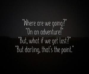 adventure, black and white, and dark image