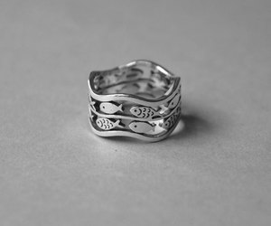 etsy, silver ring, and cute rings image