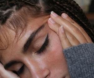 eyeliner, girls, and skin image