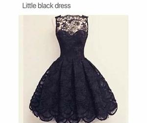 black, dress, and little black dress image