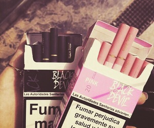 pink, black, and cigarette image