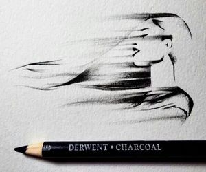 draw, black, and girl image