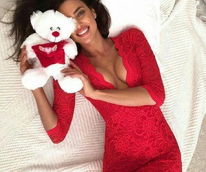 irina shayk, red, and dress image