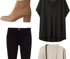 outfit, black, and boots image