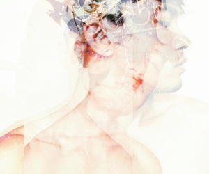 complicated and double exposure image