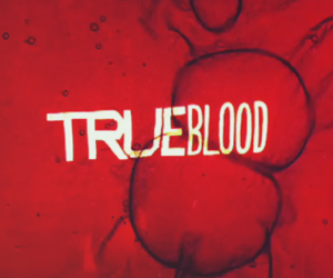 true blood, blood, and Logo image