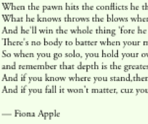 fiona apple, Lyrics, and poem image