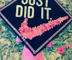 grads, graduation cap ideas, and nike graduation caps image