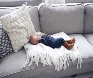 baby, cute, and couch image