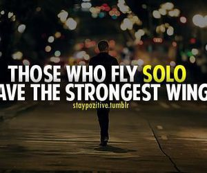 quote, solo, and strong image