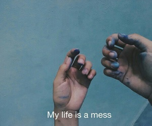 life, mess, and blue image