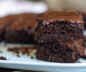 brownie, cake, and chocolate image