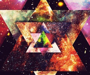 galaxy, wallpaper, and triangle image
