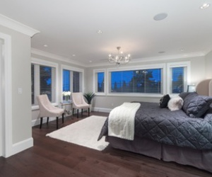 bed, bedroom, and decor image