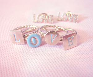 love, pink, and rings image