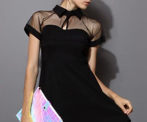 bags, black dress, and fashion image