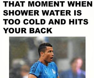 cristiano ronaldo, football, and funny image