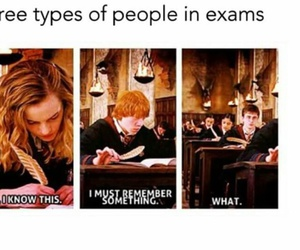 exam, harry potter, and funny image
