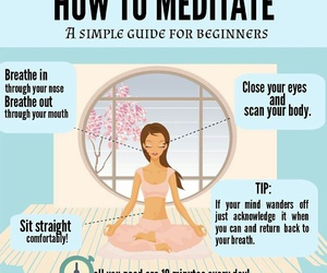 fitness, meditation, and meditacion image