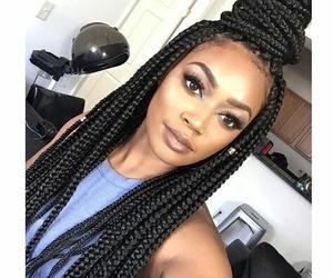 black hair, braids, and black hair styles image