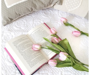 book, pink, and white image