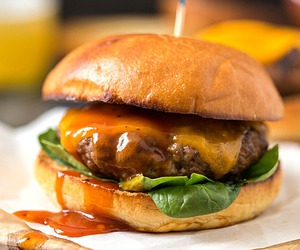 burger, cheesy, and sandwich image