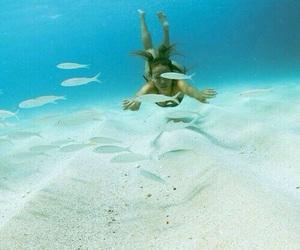 girl, bikini, and diving image