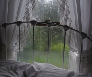 rain, grunge, and bed image
