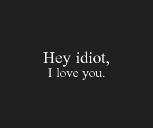 hey, I Love You, and idiot image