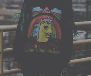 grunge, green, and hair image